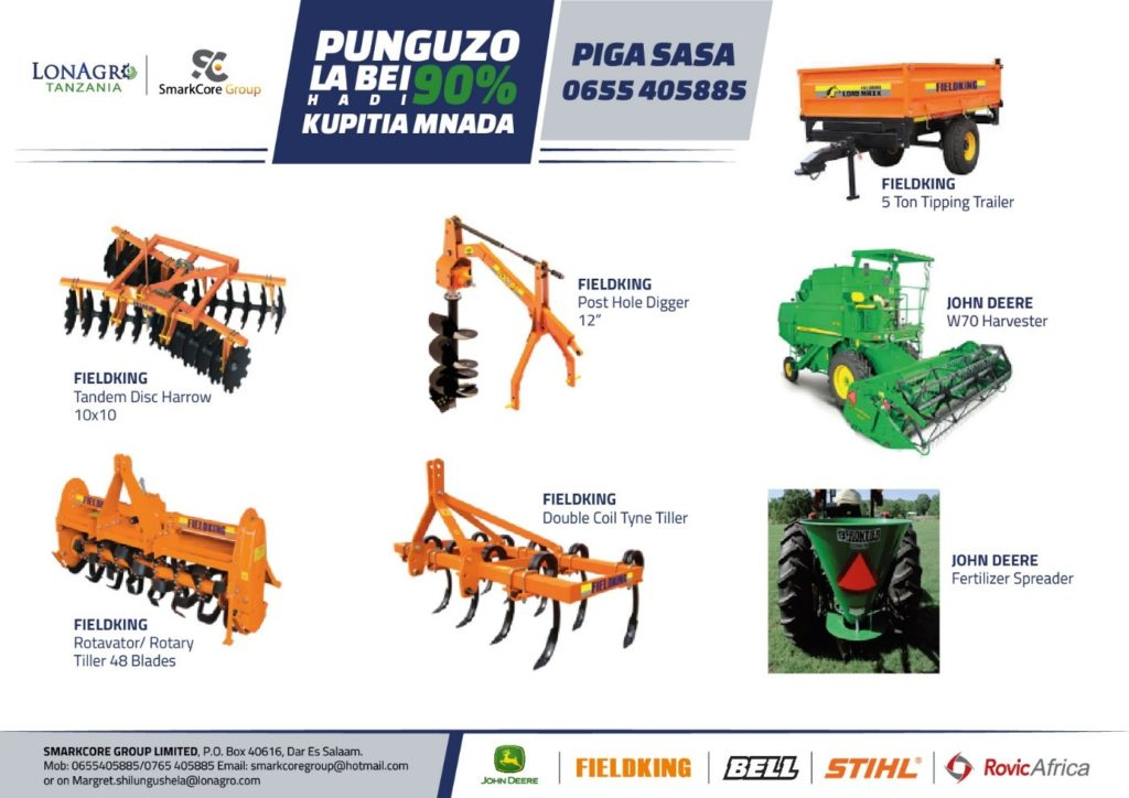 LonAgro Tanzania and SMARKCORE GROUP LIMITED Tractor and Farm Equipment Auction