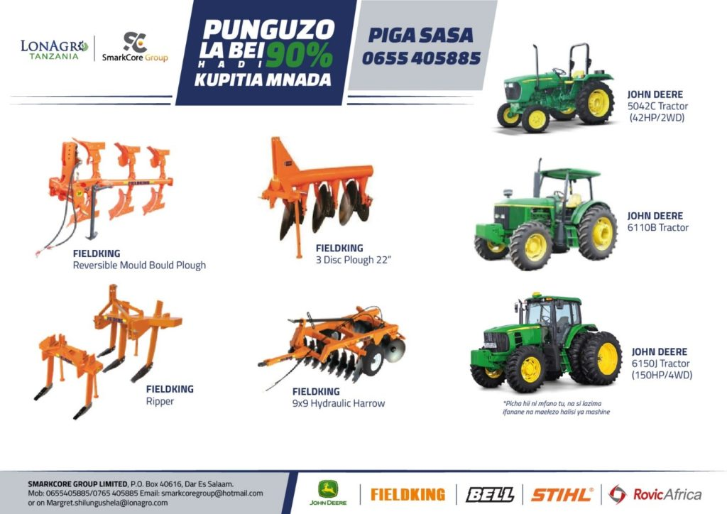 LonAgro Tanzania and SMARKCORE GROUP LIMITED Tractor and Farm Equipment Auction 2