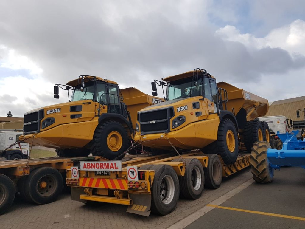 Megaruma Mining Limitada took delivery of three BELL B30E ADT trucks